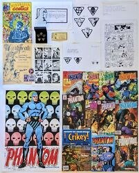 The Phantom 1992-2009 Uk Wolf Pub Huge Collection Fan Club Kit Pins Art And More