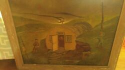 Wwii Oil Painting Of Camp 1947 From Memory Of Alaskan Campaign Army Air Corp Art