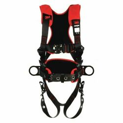 3m Protecta 1161225 Full Body Harness, Vest Style, M/l, Polyester, Black