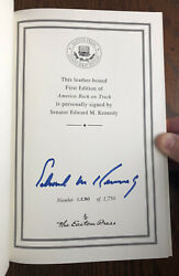 Signed Edward Ted Kennedy Autographed Easton Press Book Jfk