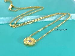 And Co 18k 750 Gold 1837 Circle Diamond Pendant 16 Necklace W Packaging