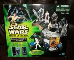 Star Wars Potj Series Carbon Freezing Chamber Playset W Bespin Guard Figure