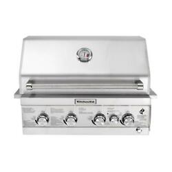 4-burner Built-in Propane Gas Island Grill Head In Stainless Steel With Burner