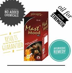3x Mast Mood Oil For Men 100 Herbal For Extra Strength-15 Ml-free Ship