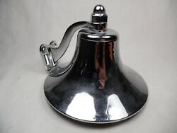 Real Boat Shipand039s Bell Chrome Plated 6 With Bracket Nice Tone Vintage Korea