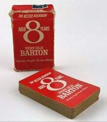 Vintage Very Old Barton Kentucky Straight Bourbon Whiskey Playing Cards