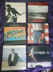 Lot Of 6 Lp Record Albums Bruce Springsteen Collection Rock And Roll 12 Inch