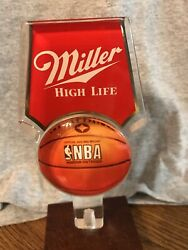 Miller High Life Beer Nba Lucite Tap Handle - Free Shipping