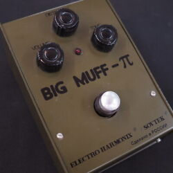 Used Electro-harmonix Big Muff Bubble Font Army Green Guitar Effect Pedal