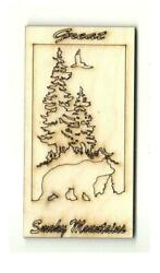 Great Smoky Mountains Tennessee - Laser Cut Wood Shape Tn12