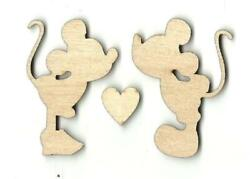 Mickey And Minnie Mouse - Laser Cut Wood Shape Dsy3