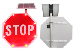 Mutcd Stop Traffic Sign Edge Lit Sign 30 Solar Type Led Stop Sign