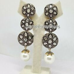 Real Polki Diamond And Pearl 925 Sterling Silver New Year Gifts Wedding Jewelry