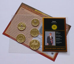 Japan Coin Set - Various Years Monarchies Of The World - 24k Gold Plated