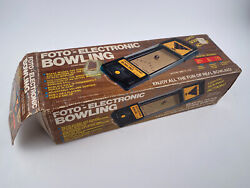Foto Electronic Bowling Vintage Tabletop Game 1978 By Cadaco W/ Box