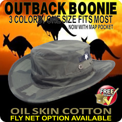 Boonie Hat Camo Unisex Cotton Oil Skin Fly Net 3 Colors Hunt Fish 4wd Touring Au