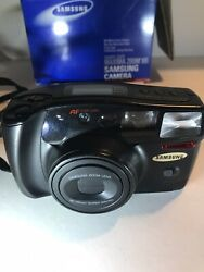 Vtg Samsung Maxima Zoom 105 Point And Shoot 35mm Film Camera Comes W/box And Manual