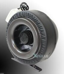 8 Inline 720cfm 110v Duct Fan Vent Exhaust Air Cooled Hydroponic Fan Blower