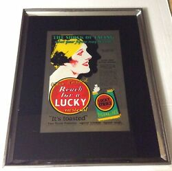 1928 Lucky Strike Cigarettes Weight Loss Vintage Print Ad 16x20 Framed Repo.