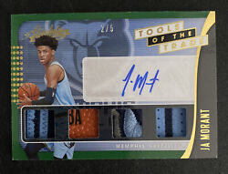 Ja Morant Rc 2019-20 Absolute Tools Of The Trade Auto /5 Jersey Quad Relic