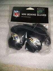 Nfl Baltimore Ravens 4 Mini Boxing Gloves With Hanging String For Car Mirror