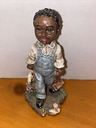 Vintage Young's Black Americana Figurine - Boy With School Books
