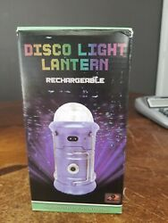 Disco Lamp Portable Usb Rechargeable. Works As Flashlight And Lantern - Black