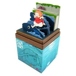 Ponyo On A Cliff By The Sea Mini Chart Kit [ponyo Running Over Water Fish]
