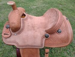 15.5 Johnny Scott Ranch Roping Saddle Made In Texas Cutter