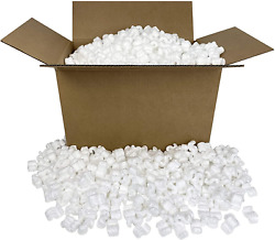 Packing Peanuts White Packaging Material 3 Cu Ft Popcorn Loosefill Box Cushion