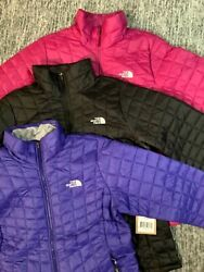 The Thermoball Eco Full Zip Jacket Dramatic Plum Black Aztec Blue L