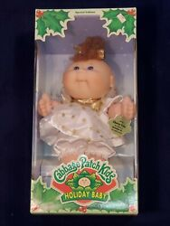 Cabbage Patch Kid 1997 Holiday Baby Girl Charity Uma Dec 24 Blue Eyes Curly Hair