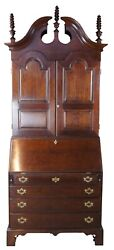 Wright Table Co. New England Style Cherry Blind Door Secretary Desk And Bookcase