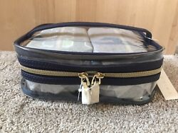 Trina Turk NWT Clear Cosmetic Bag With 2 More Bags Inside W handle amp; Zipper $79.00