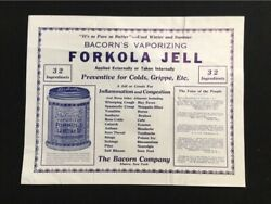Bacorn Double-sided Window Advertisement Forkola Jell And Skin-glo Creme