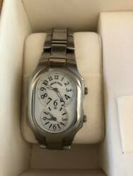 Philip Stein Men's Dual Time Stainless Steel Watch