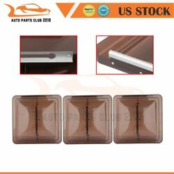 3x Smoked 14 X 14 Replacement Roof Vent Cover For Camper Rv Trailer Ventline
