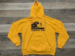 Rare Menand039s Artist Union Clothing Co Great Wave Of Kanagawa Japan Hoodie Small