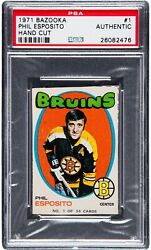 1971 Bazooka Phil Esposito 1 Psa Authentic Only Four Graded Very Rare Card