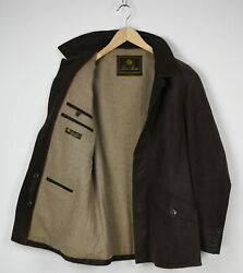 Loro Piana Men's Large Cashmere Lined Wool Blend Filled Leather Jacket 31473-gs