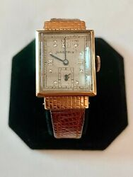 Look--solid 14k Gold Working Nastrix Bubble Case Mens Wristwatch, See Gold/coins