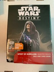 Star Wars Destiny Dice And And Card Spirit Of Rebellion Game Booster Box 36 Packs
