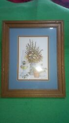 Don Fusco Signed Numbered Print Oil Lamp Floral Ohio Artist Framed  126 Of 350