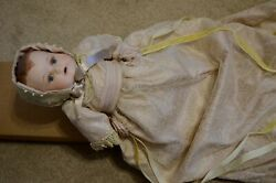 Katherines Collection Porcelain Music Doll Louisa Victorian Christening Gown