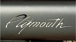 Plymouth Prowler Polished Stainless Steel Bumper Letter Emblems Acc-822015-both