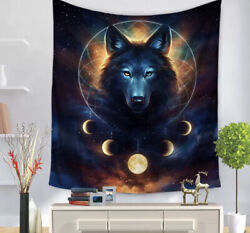 Wolf Painting Pattern Fashion Tapestry Hanging Wall Tapestry Home Decor Blanket