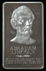 10.46 Oz Silver Abraham Lincoln 16th President Of The Usa 325 Grams Proof Bar