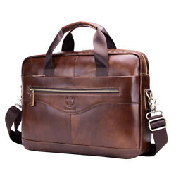 Leather Business Messenger Bag Briefcase Handbag for Men Crossbody Shoulder Bags $39.89