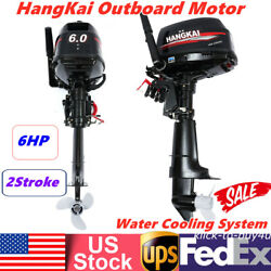 6hp Hangkai Outboard Motor 2stroke Fishing Boat Engine Water Cooling System