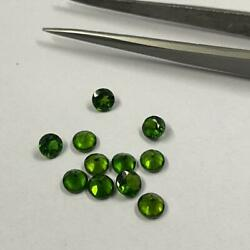 Aaa Quality Natural 4mm Chrome Diopside Faceted Round Loose Gemstones Wholesale